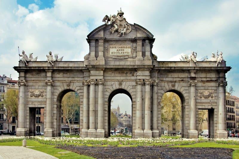 Puerta de Alcala, Madrid fotografie stock libere da diritti