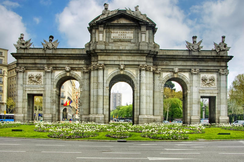 Puerta de Alcala, Madrid immagine stock libera da diritti
