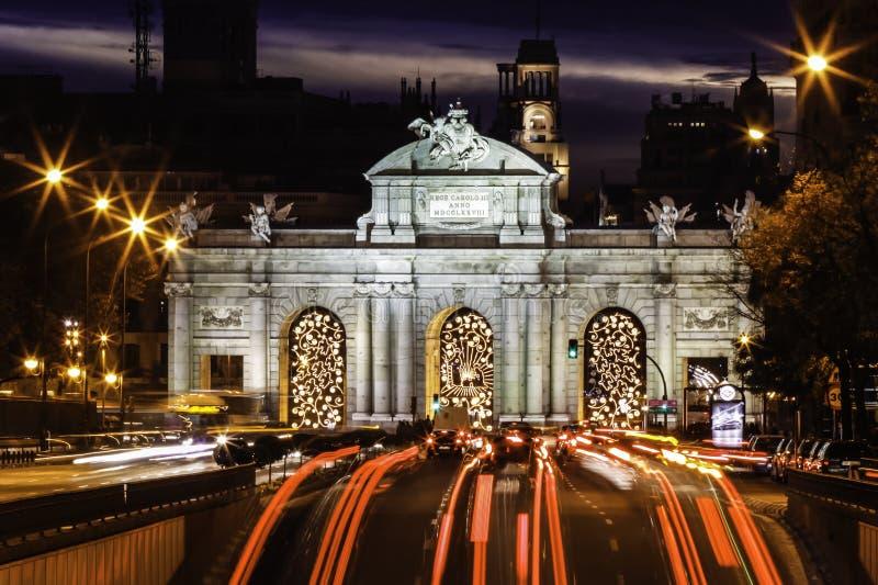 Puerta de Alcala, Madrid, Spagna immagine stock libera da diritti