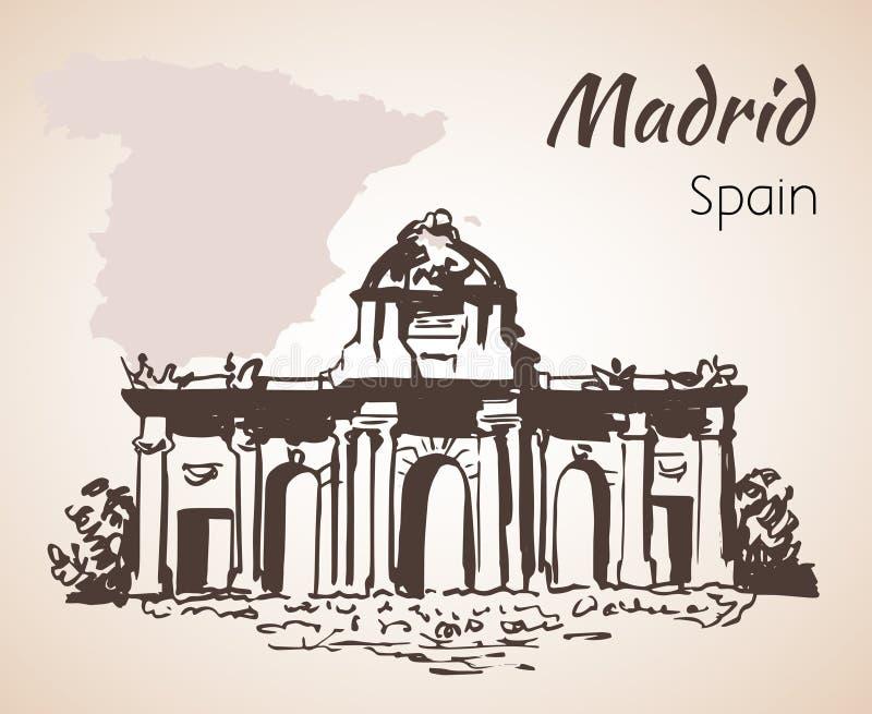 Puerta DE Alcala - Madrid spanje royalty-vrije illustratie