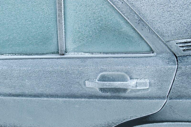 Puerta de atrás congelada cerrada imagenes de archivo