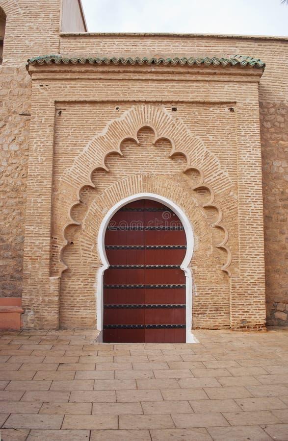 Entrada trasera a la mezquita de Koutoubia en Marrakesh, Marruecos foto de archivo libre de regalías