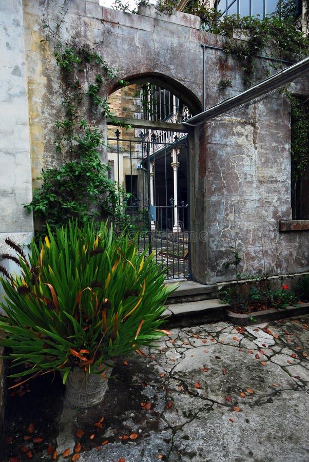 Puerta de atrás del castillo de Larnach fotografía de archivo libre de regalías