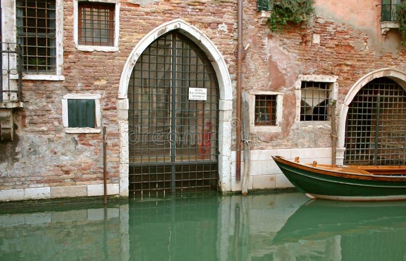 Puerta de atrás en Venecia imágenes de archivo libres de regalías