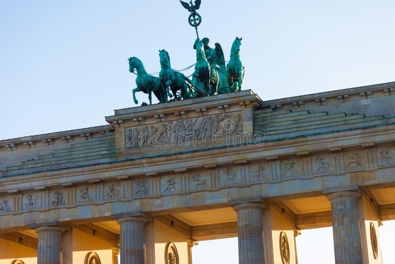 Puerta de Brandeburgo de Berlín fotografía de archivo libre de regalías