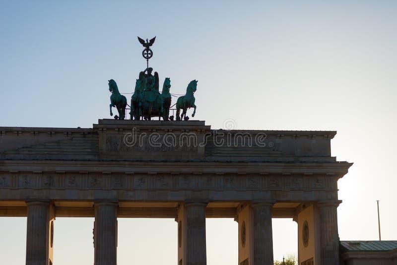Puerta de Brandeburgo de Berlín foto de archivo