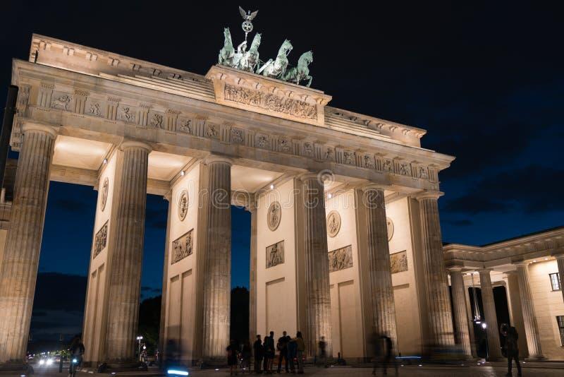 Puerta de Brandeburgo histórica fotos de archivo