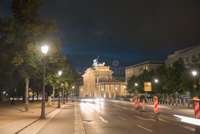 Puerta de Brandeburgo histórica fotografía de archivo libre de regalías