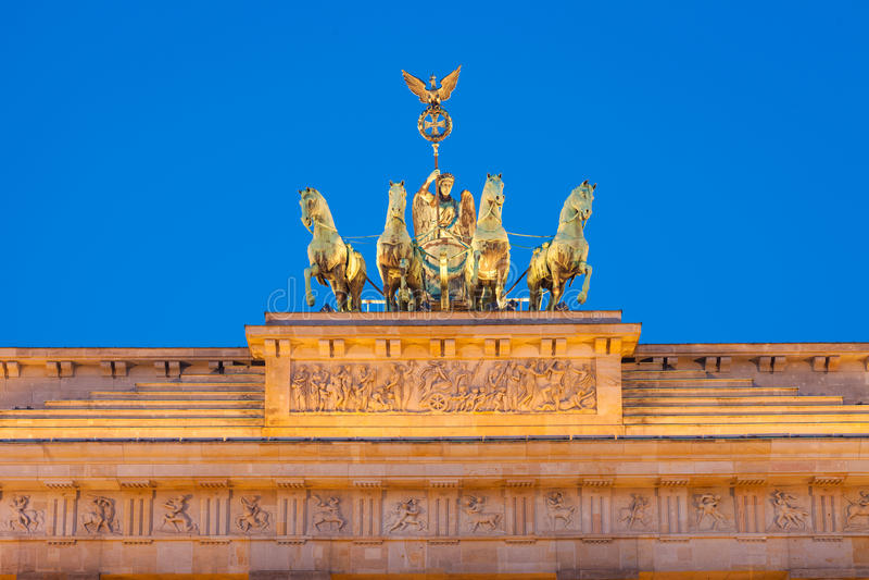 Puerta de Brandeburgo (Tor de Brandenburger) imagen de archivo libre de regalías