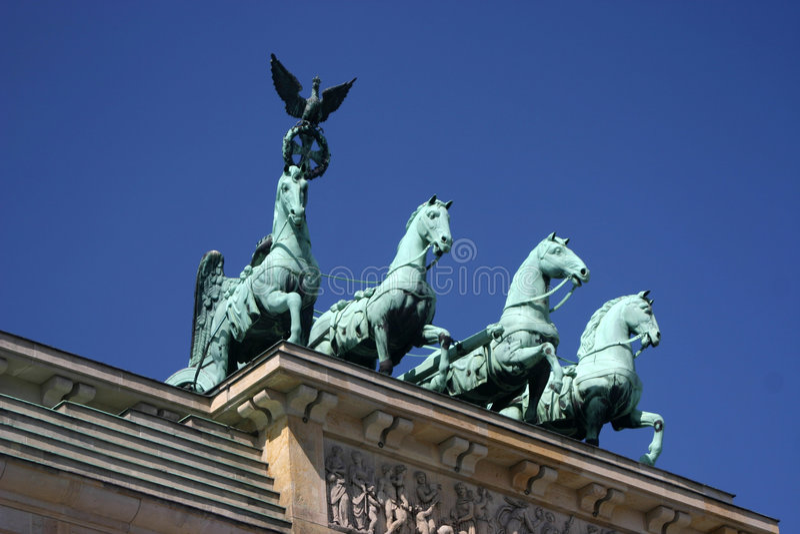 Puerta de Brandenburger foto de archivo