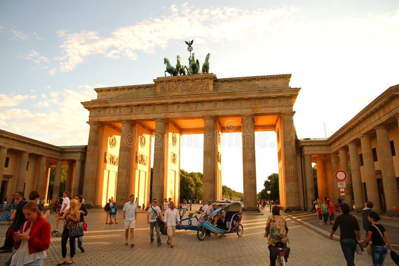 Puerta de Brandenburger en Berlín imágenes de archivo libres de regalías