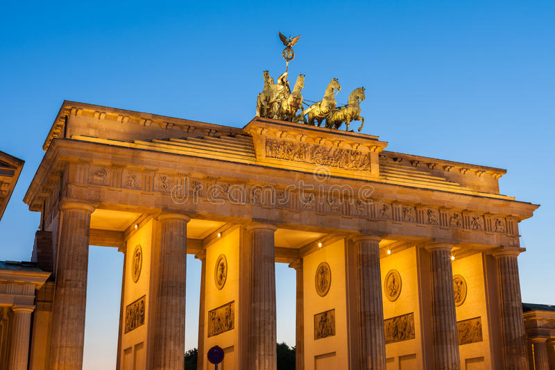 Puerta de Brandenburgo imagen de archivo libre de regalías