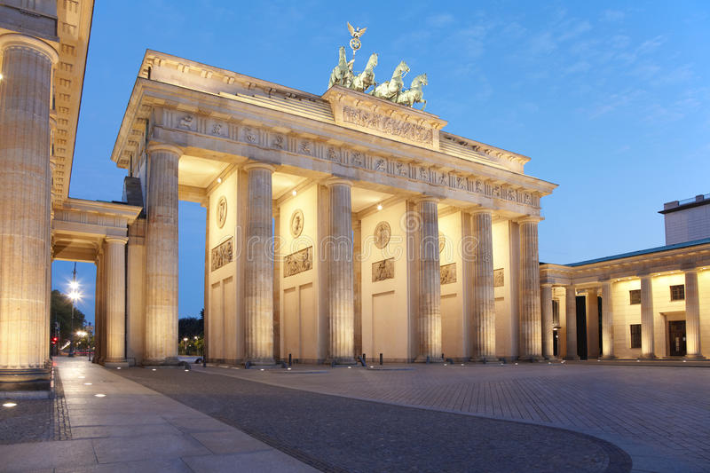 Puerta de Brandenburgo, Berlín imagen de archivo