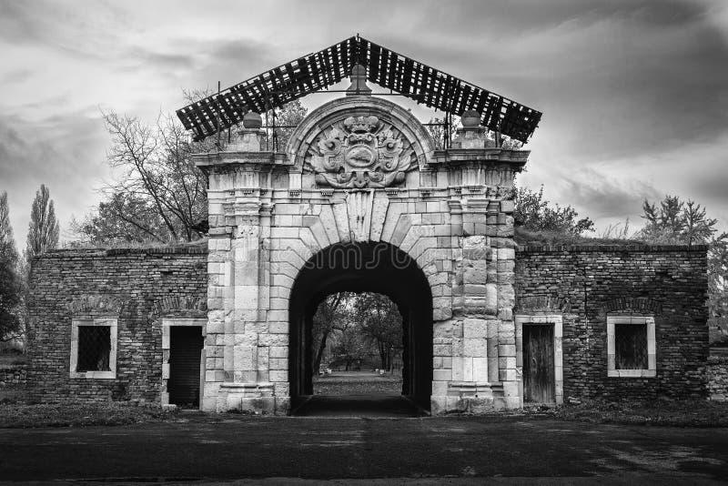 Puerta de Charles VI en Belgrado imagen de archivo libre de regalías