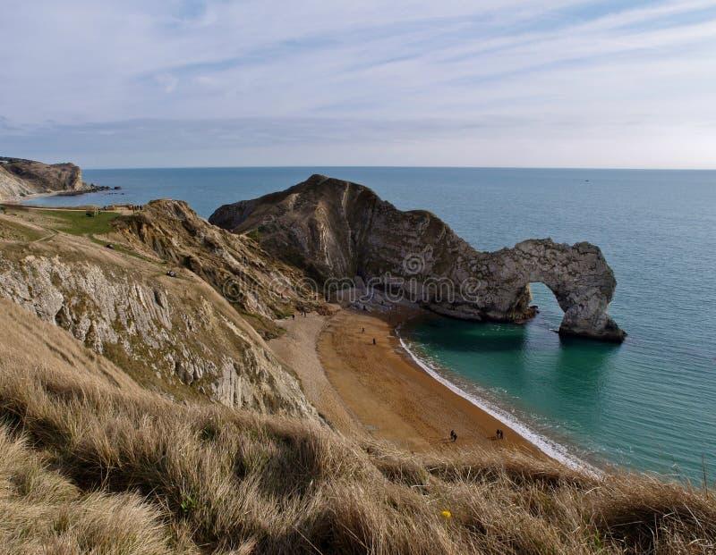 Puerta de Durdle y costa costa de Dorset fotos de archivo