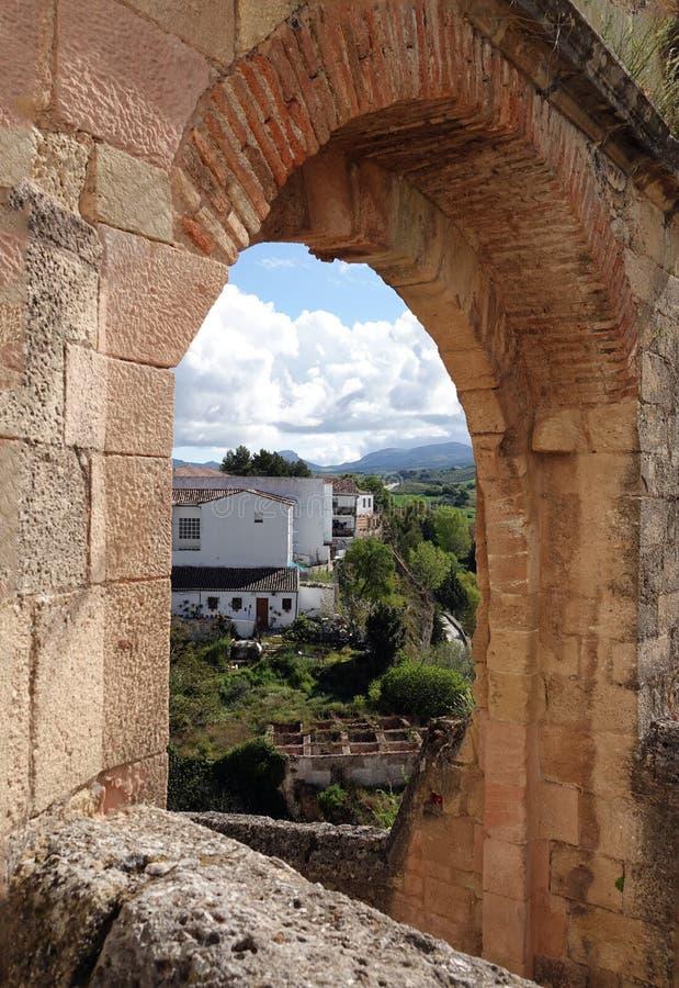 Puerta de Felipe Β στη Ronda στην Ανδαλουσία, Ισπανία στοκ εικόνες