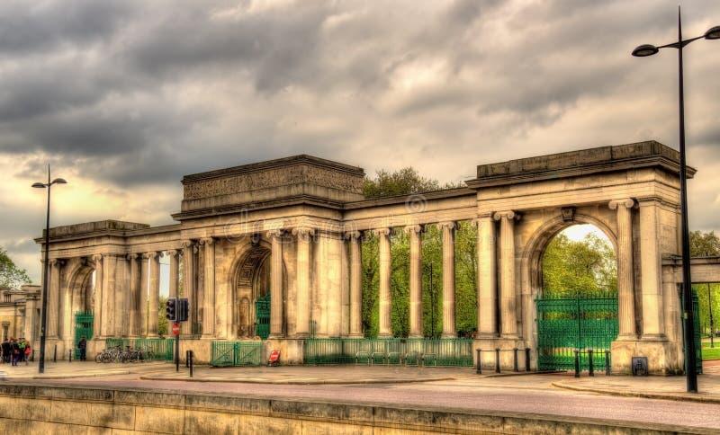 Puerta de Hyde Park en Londres fotografía de archivo