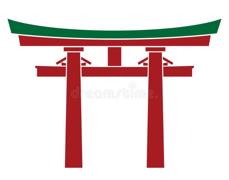 Puerta de Japón - puerta de Torii ilustración del vector