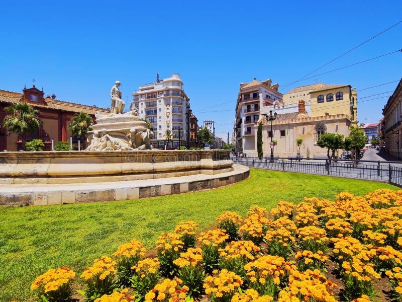 Puerta de Jerez in Seville, Spain royalty free stock image
