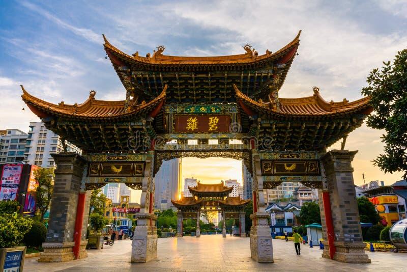 Puerta de Kunming foto de archivo