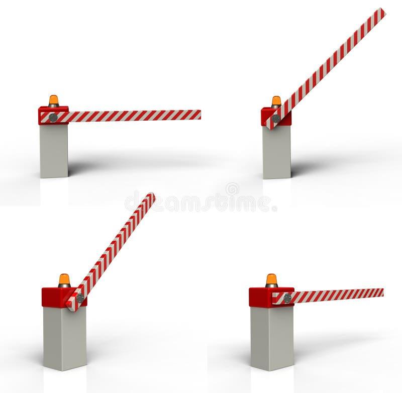 Puerta de la barrera ilustración del vector