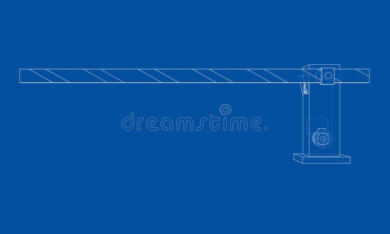 Puerta de la barrera del esquema Vector stock de ilustración