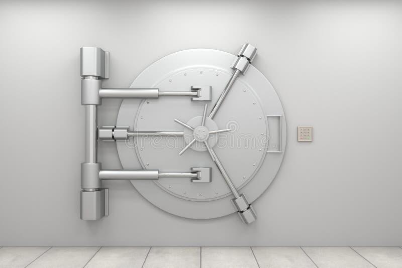 Puerta de la cámara acorazada de batería libre illustration
