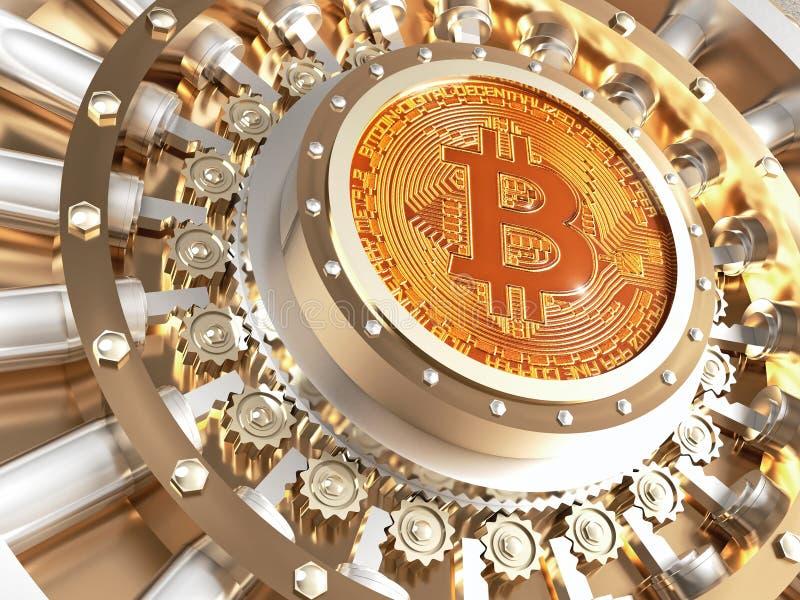 Puerta de la cámara acorazada de Bitcoin stock de ilustración