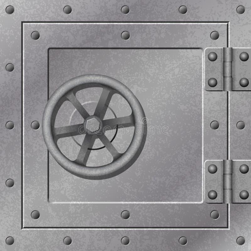 Puerta de la caja fuerte ilustración del vector