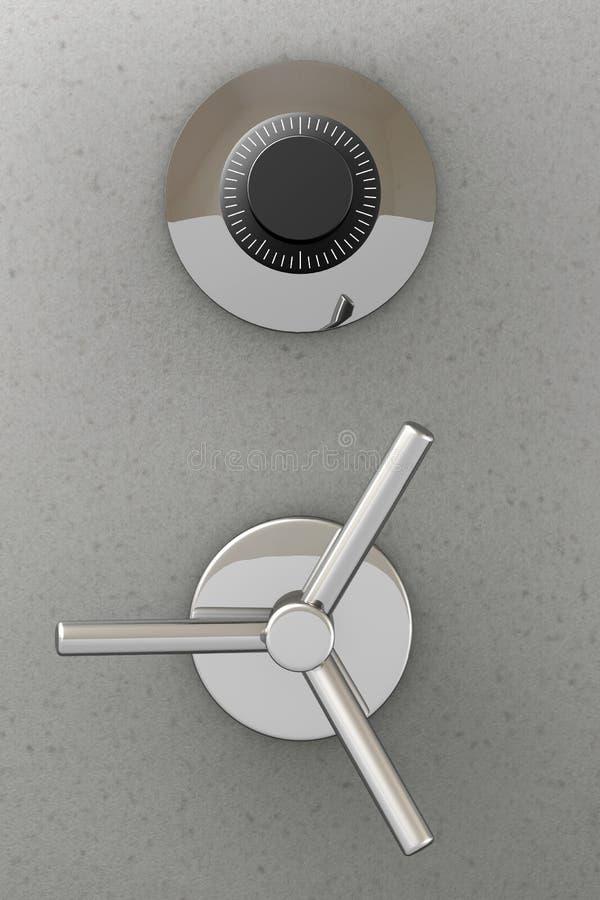Puerta de la caja fuerte de la batería ilustración del vector