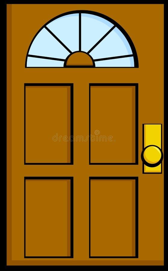 Puerta de la casa stock de ilustración