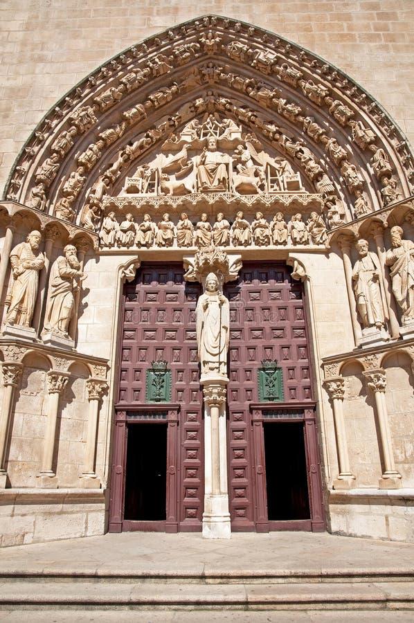 Puerta de la catedral de Burgos foto de archivo libre de regalías