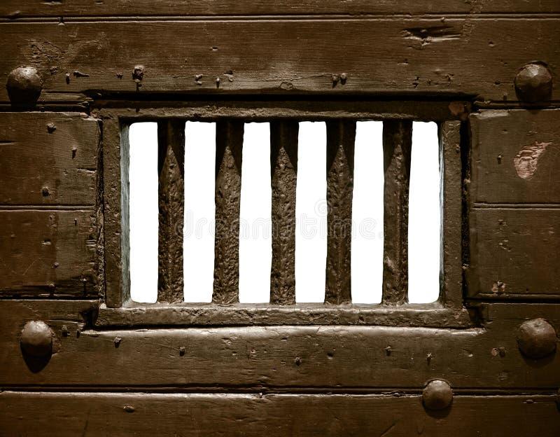 Puerta de la celda de prisión imagen de archivo