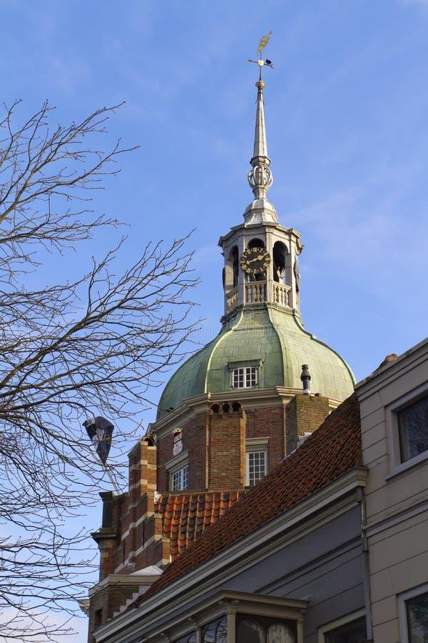 Puerta de la ciudad al dordrecht fotografía de archivo libre de regalías