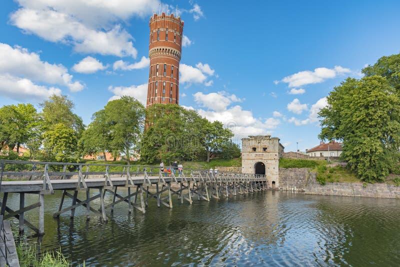 Puerta de la ciudad de Kalmar imagenes de archivo