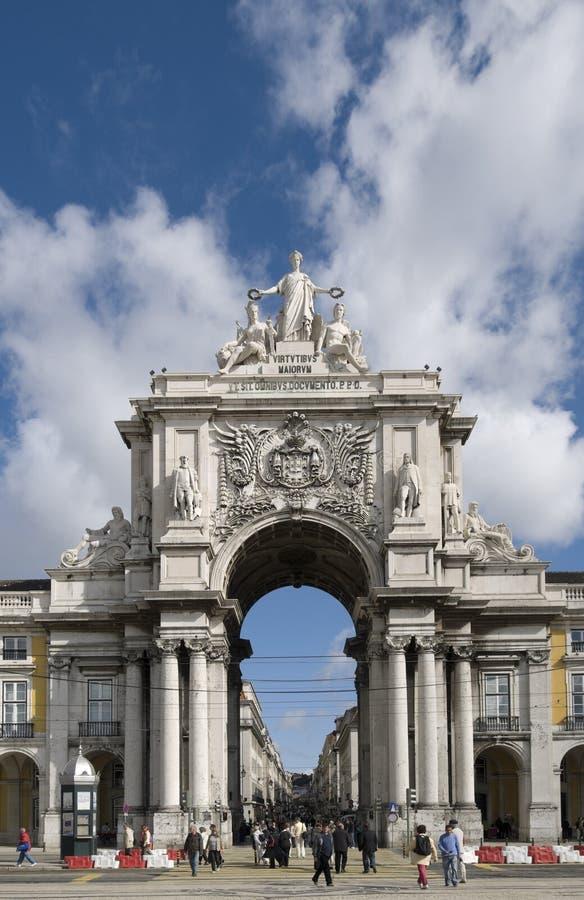 Puerta de la ciudad, Lisboa foto de archivo