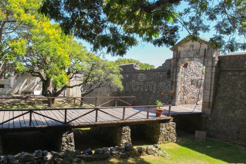 Puerta de la ciudad de Puertal Del Campo en el del Sacramento de Colonia en Uruguay foto de archivo