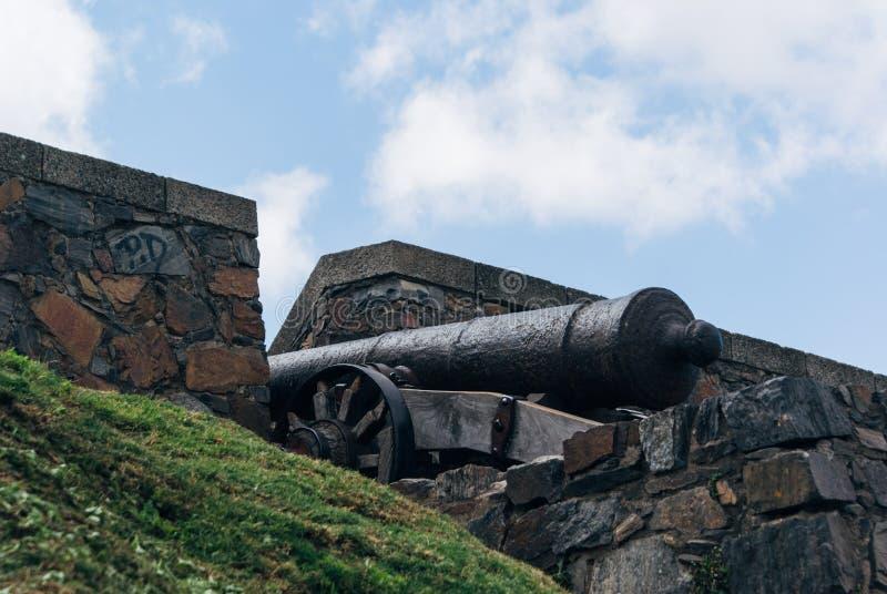 Puerta de la Ciudadela en Colonia royaltyfri bild