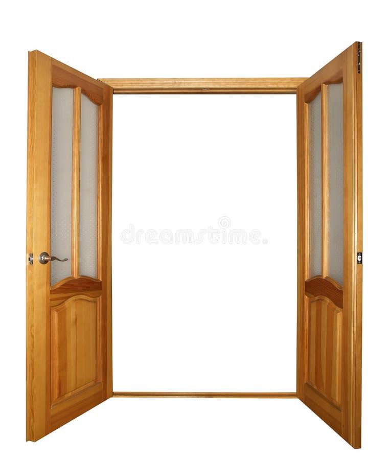 puerta de la Dos-hoja aislada