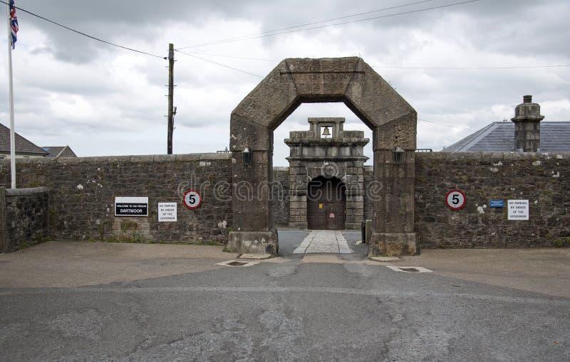 Puerta de la entrada de la prisión de Dartmoor, Inglaterra Reino Unido imagen de archivo libre de regalías