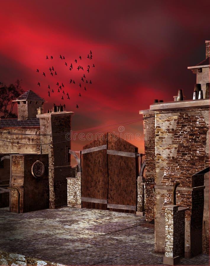 Puerta de la fantasía stock de ilustración