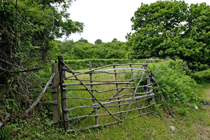 Puerta de la granja de Tradional imagen de archivo