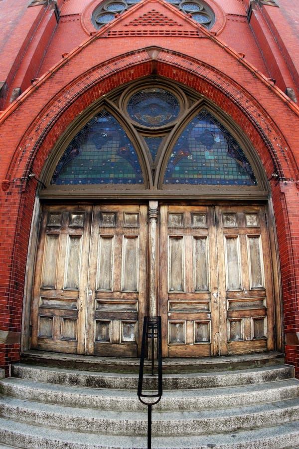 Puerta de la iglesia foto de archivo