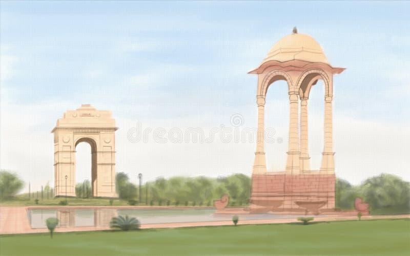Puerta de la India imagen de archivo libre de regalías