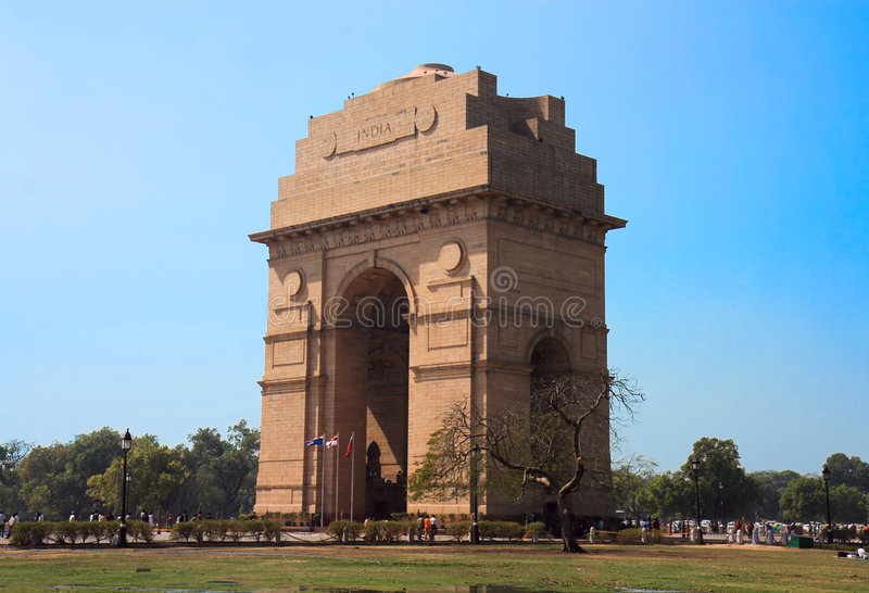 Puerta de la India en Nueva Deli foto de archivo