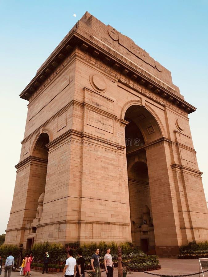 Puerta de la India en Nueva Deli imagen de archivo