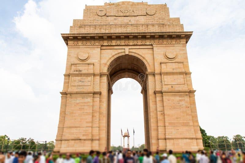 Puerta de la India en Nueva Deli, la India fotos de archivo libres de regalías