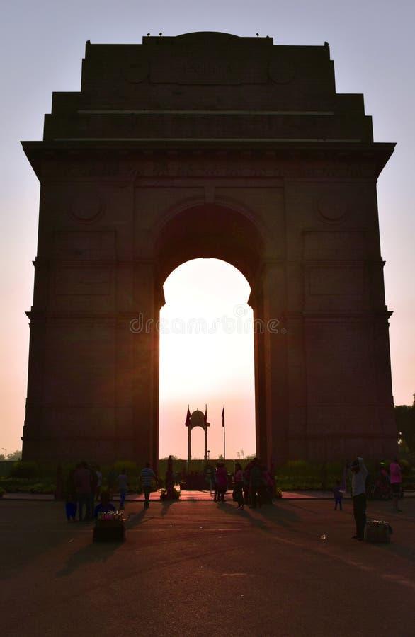 Puerta de la India por la tarde foto de archivo libre de regalías