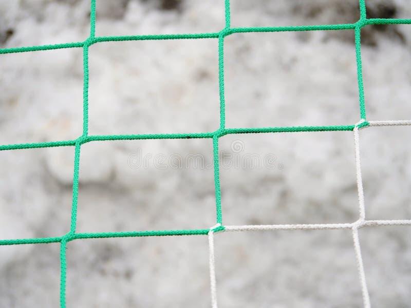 Puerta de la meta con la red y nieve en la línea lateral foto de archivo libre de regalías