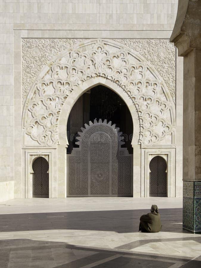 Puerta de la mezquita de Hassan II imagen de archivo libre de regalías